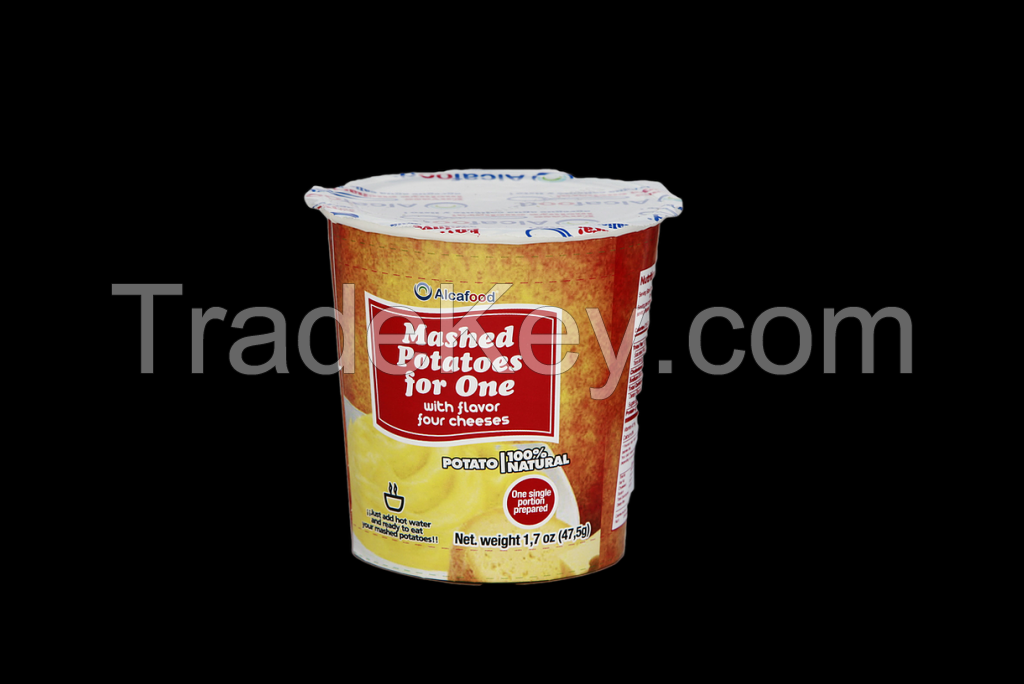 Instant CUP Mashed Potatoes for one 1.7 oz (47.5 grs) with four cheeses