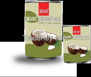Organic Coconut Milk cans, Coconut milk, 18% fat