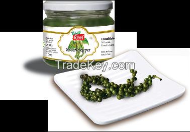 Organic green pepper in brine