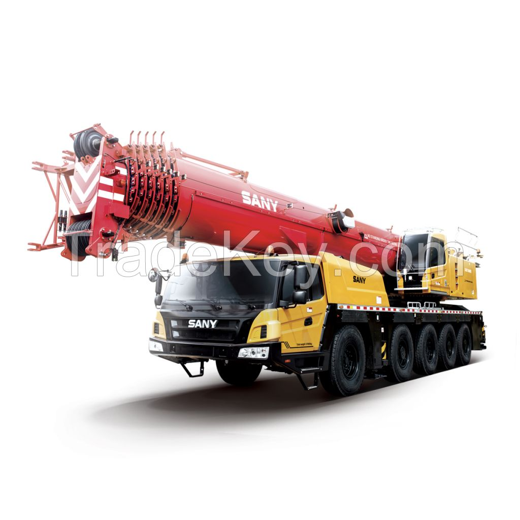 SAC1600S SANY All Terrain Crane 160T Lifting Capacity Strong Boom Powerful Chassis