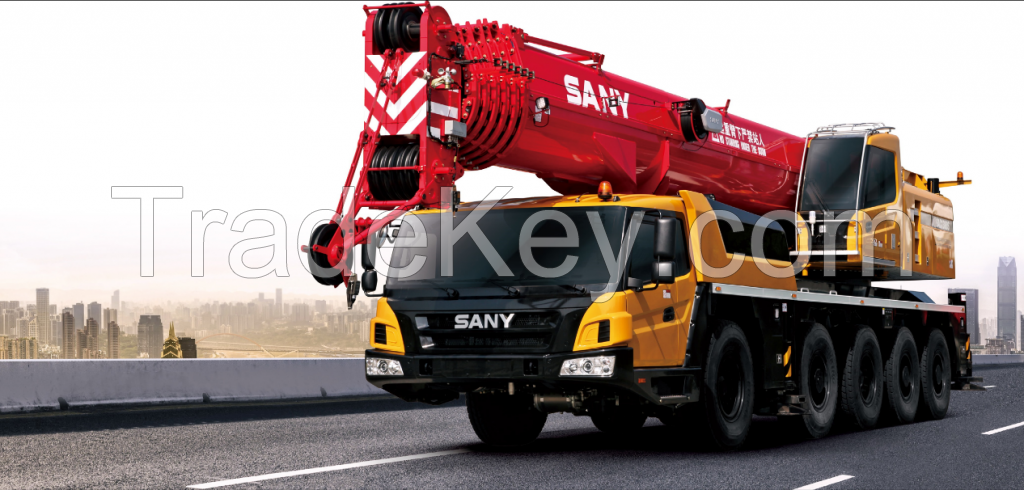 SAC1300S SANY All Terrain Crane 130T Lifting Capacity Strong Boom Powerful Chassis