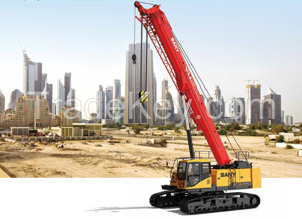 SCC250TB SANY Truck Crane 25T Lifting Capacity Strong Boom Powerful Chassis