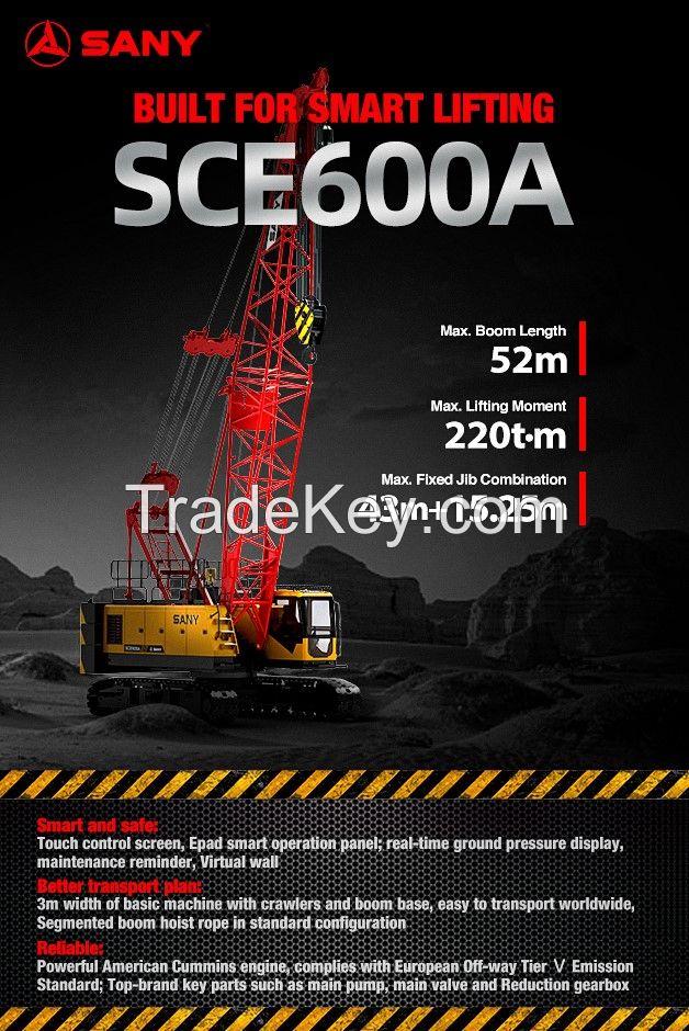 SCE600A Sany Crawler Crane 60 Tons Lifting Capacity