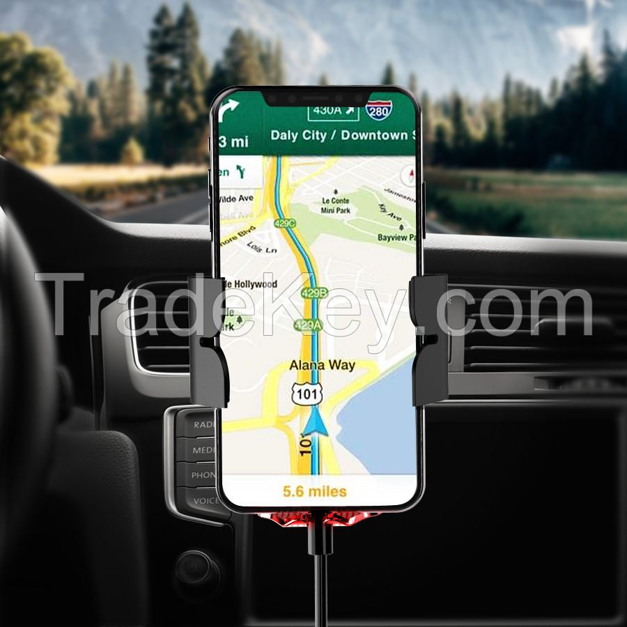 New design 15W Fast QI Wireless Charging Car Holder Smart  Wireless Charging for iPhone X/11 pro max
