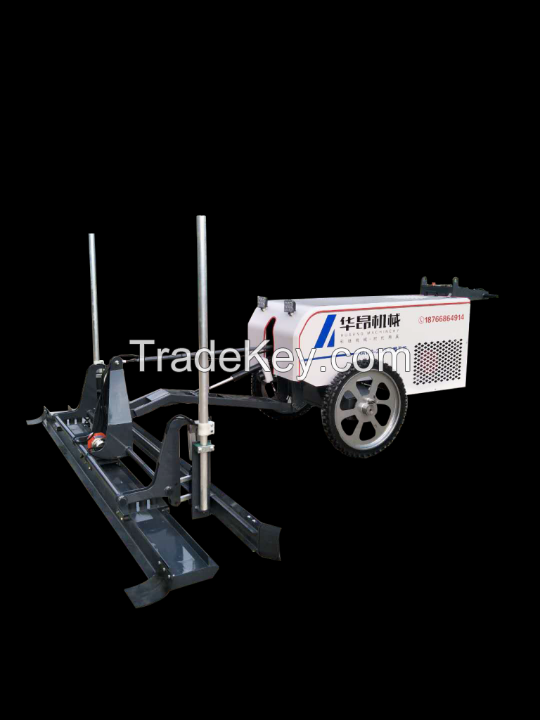 Two wheels Concrete Hand Guided Laser Screed Machine With Long Screed Board