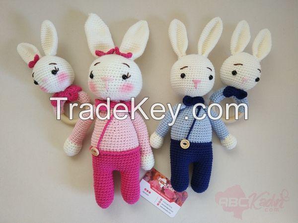 Handmade Rabbit Figured Rattle Sets