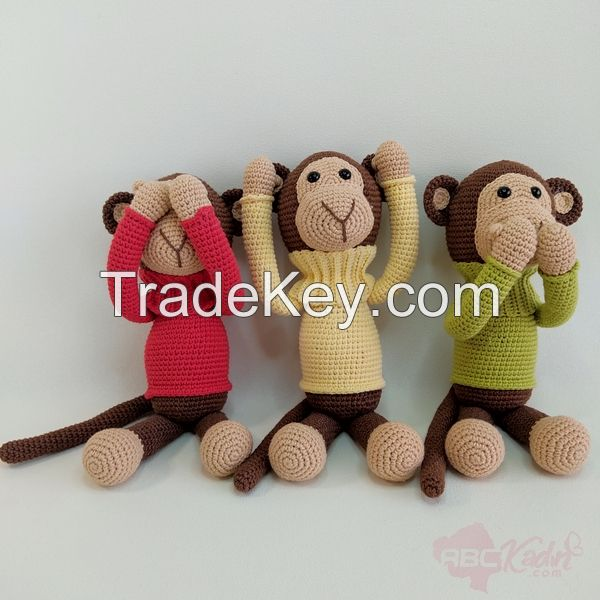 Hand Knitted Animal Figure Toys
