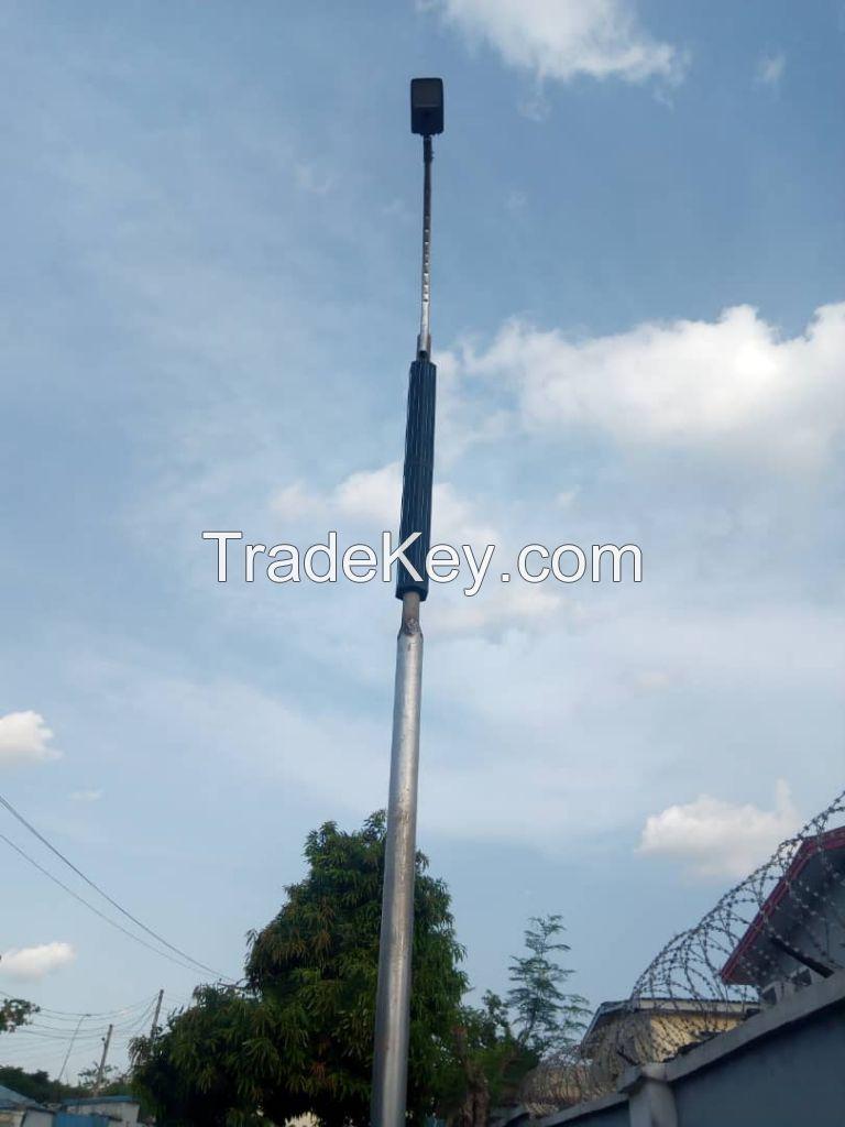 Solar cylinder street light 80Watt