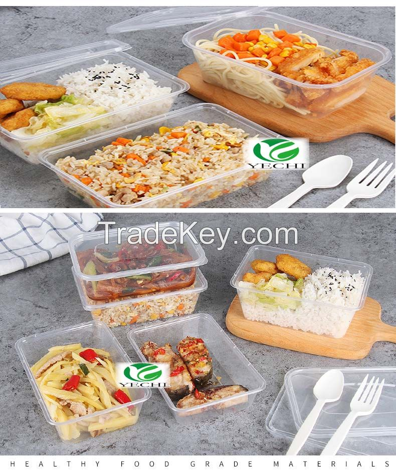 Disposable PP plastic lunch box, takeaway, hotel, Chinese restaurant, food grade safe use