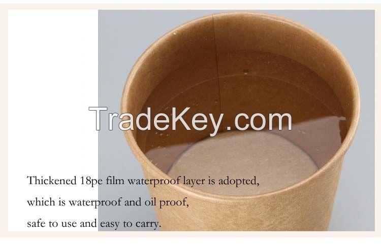 Kraft paper lunch box/Kraft soup pail
