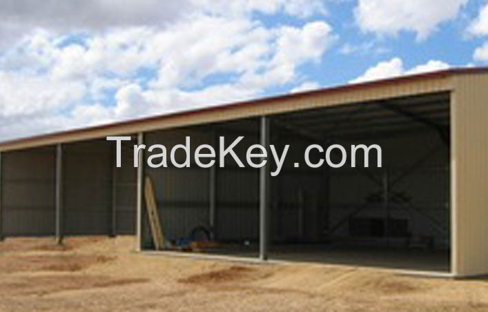 Agriculture and Industrial Portal Frame Style Structure Steel Sheds