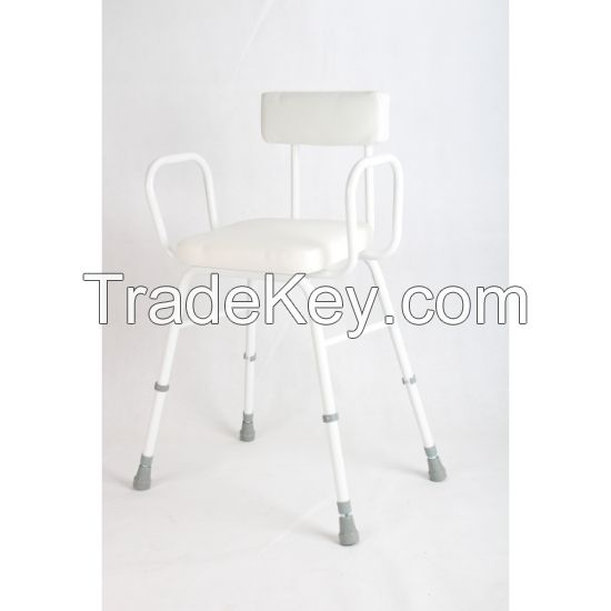 Kitchen Stool, Height Adjustable Stool with Handlebars, Seat Cushions and Backrest