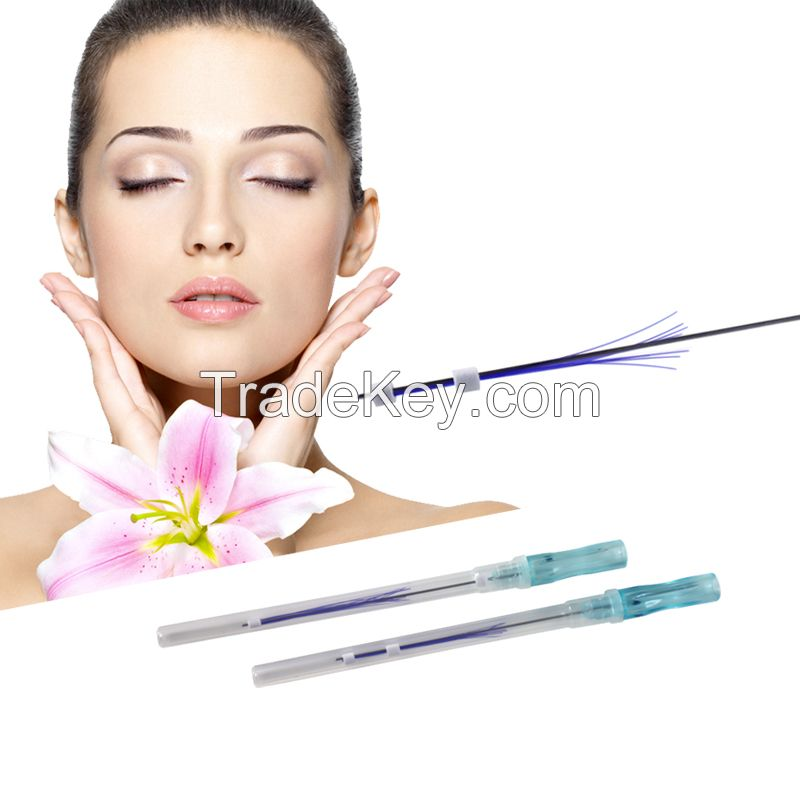 New arrival face lifting cog pdo thread cosmetic 6d cog thread lift face thread needle