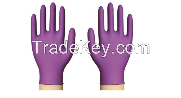 Disposable medical examination nitrile gloves, vinyl gloves, synthetic gloves