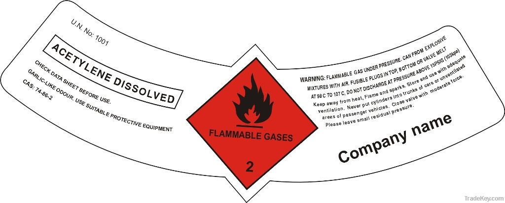 Gas Cylinder Stickers (Labels)