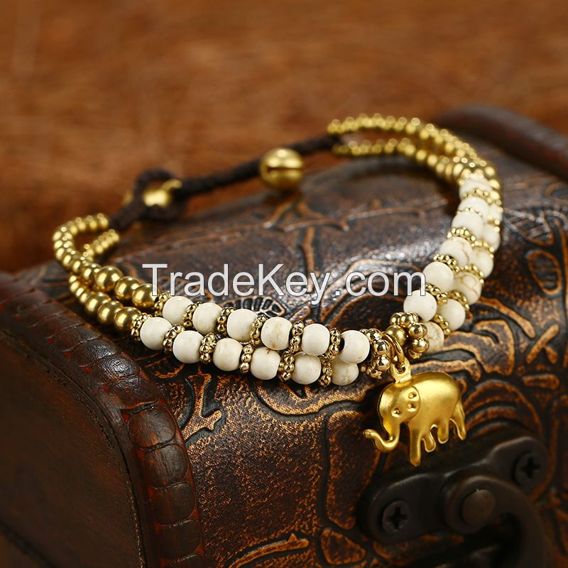 nimals theme handmade braiding bracelet.