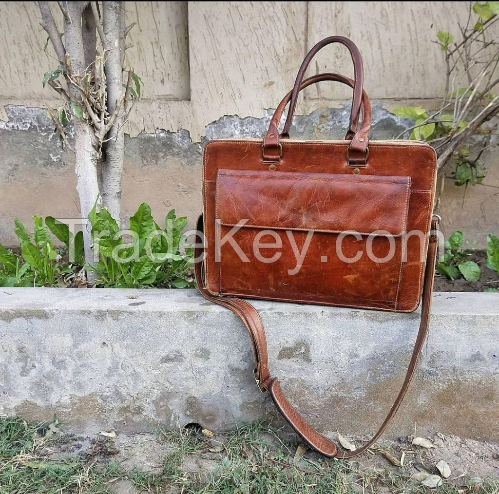 Leather Bag for laptop and office use