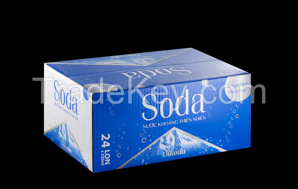 VIKODA Soda Sparlking Mineral Water CAN 330 ml