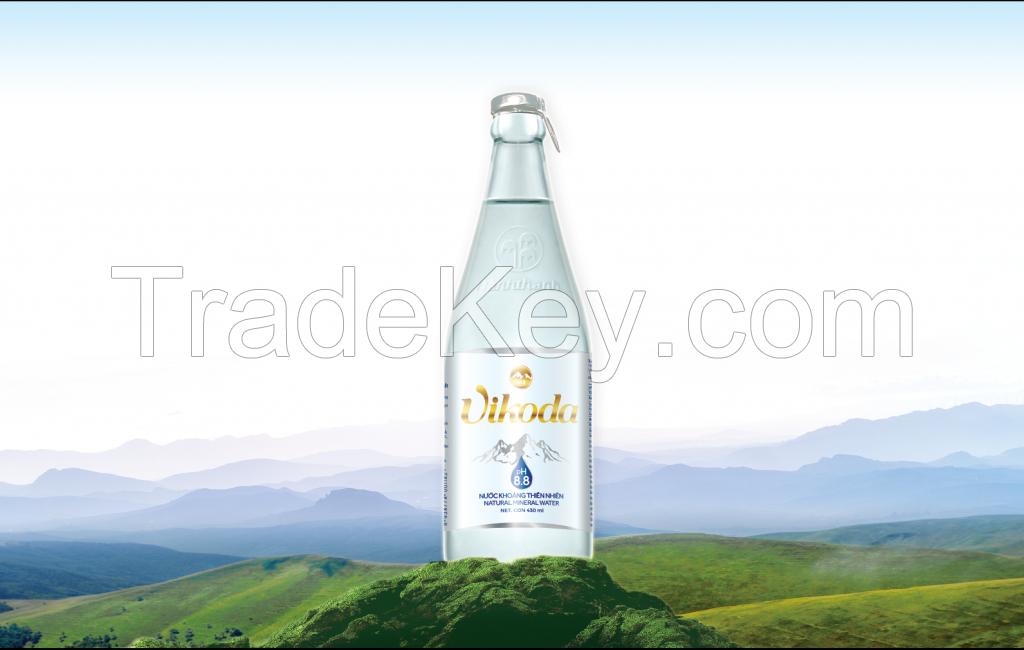 Vikoda Natural Alkaline Mineral Water GLASS 430 ml