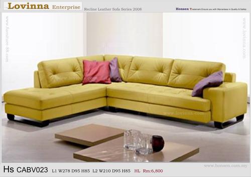 Leather Sofa (Made in Malaysia)
