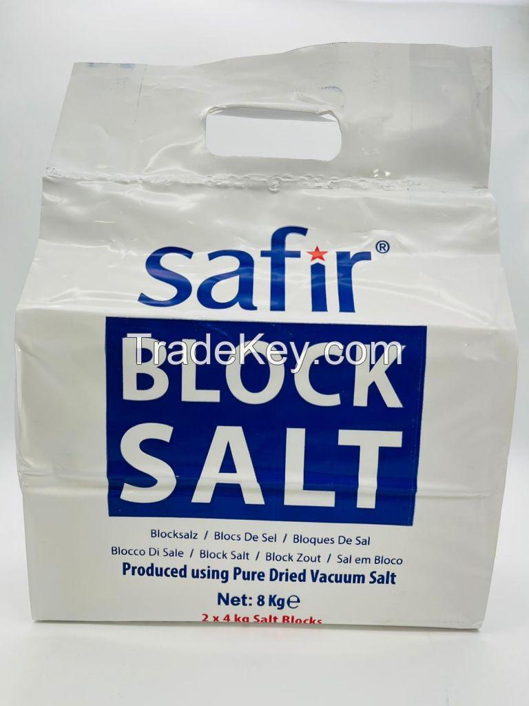 tablet salt , block salt