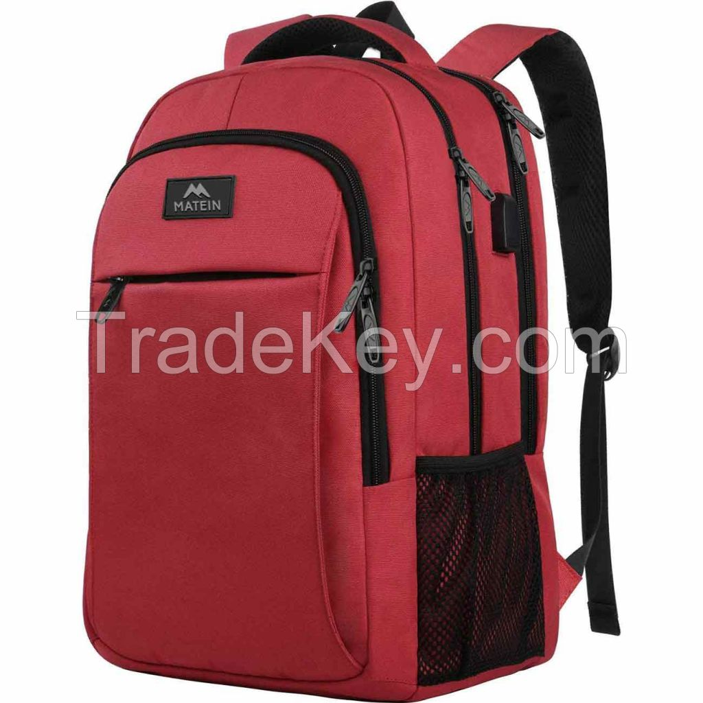 Business Travel Anti Theft Slim Durable Laptops Backpack with USB Charging Port Water Resistant College School Computer bag