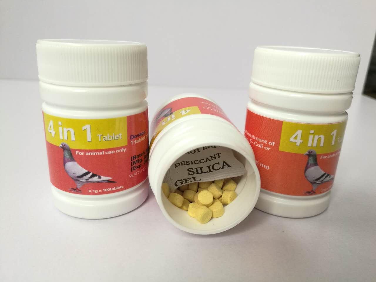 Racing Pigeon Medicine Furaltadone Ronidazole 4 in 1 Tablet