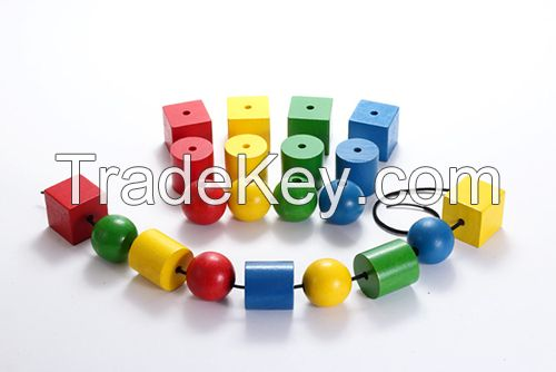Lacing Beads Wooden Beads