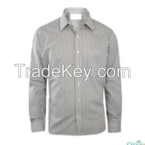 Blue On Black Striped Shirts