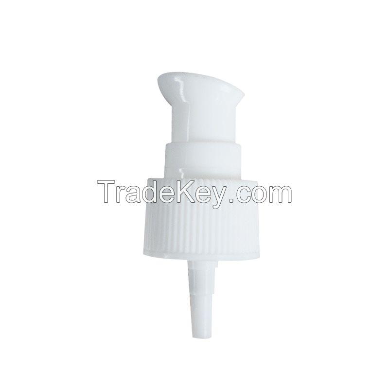 24/410 Treatment Cosmetic Plastic Cream Pump with Round Full Cap