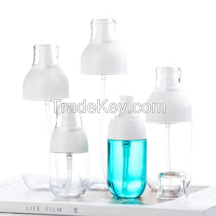 30ml 50ml 80ml 100ml 120ml 150ml 180ml Oval Shape PETG Plastic Cosmetic Spray Bottle Fine Mist Make Up Water Sprayer Bottle