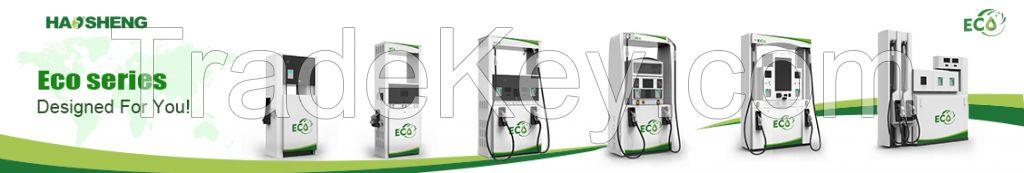 Haosheng brand Eco series four nozzle green color fuel dispenser
