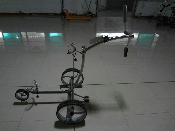 Stainless steel remote golf trolley