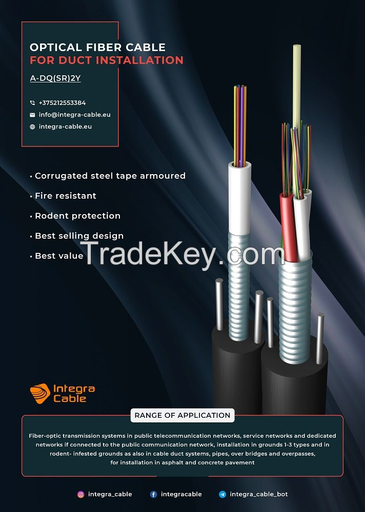 optical fiber cable for duct installation Cable in ducts armoured with corrugated steel tape