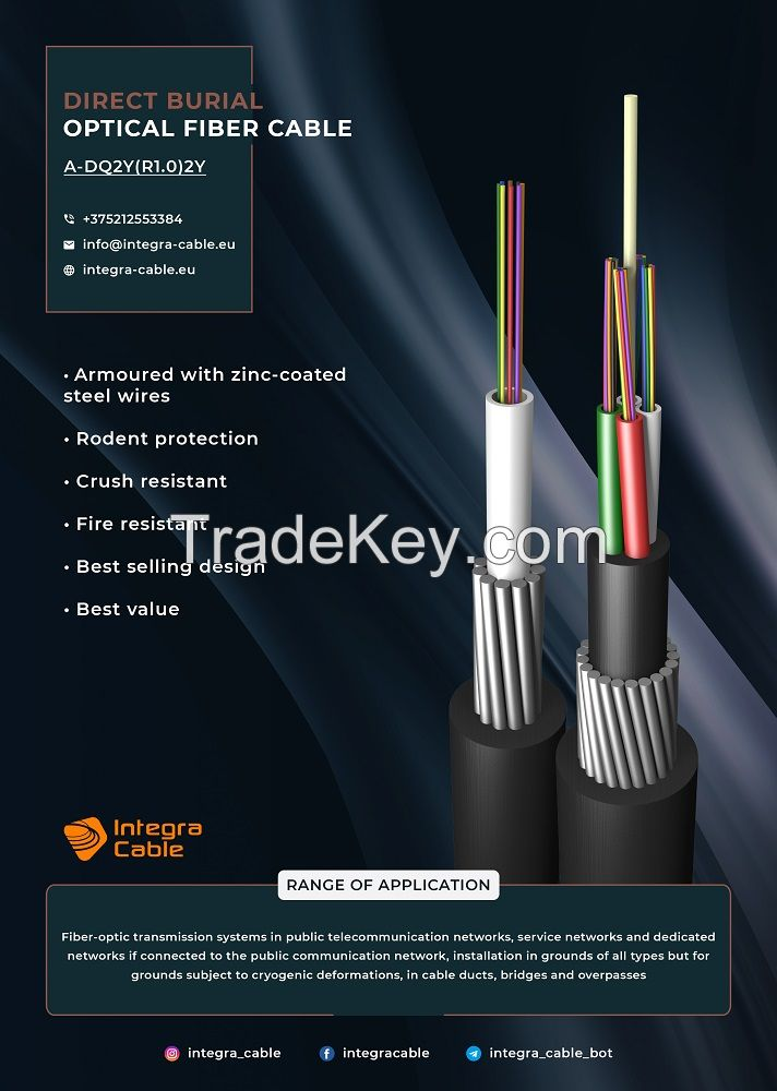 Direct buried optical fiber cables