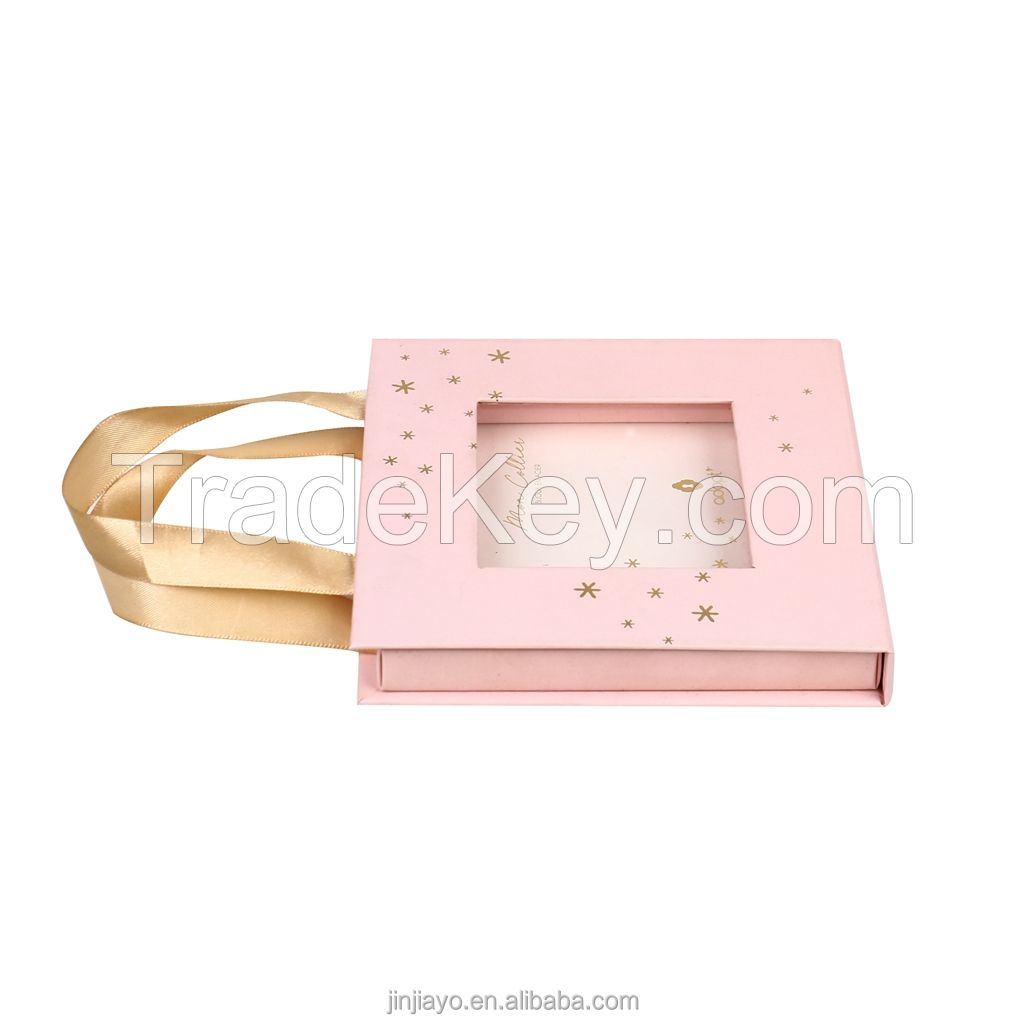 Pink Gift Mailer Box for Dress Magnetic Jewelry Packaging Soap Candy Perfume Luxury Custom Logo Gift Package Eco Friendly