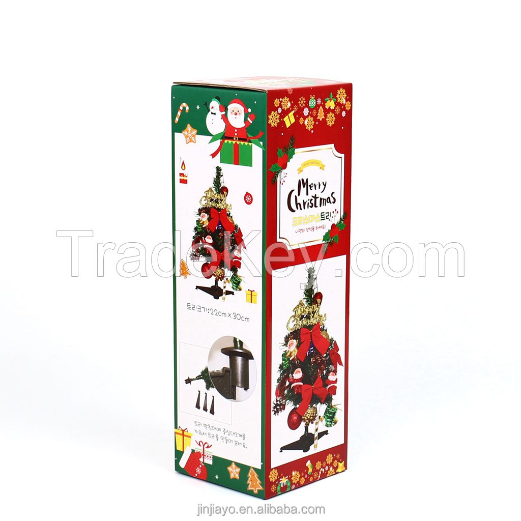 XMAS Custom Logo Corrugated Paper Box for Christmas Packaging Craft paper Foil Hot Stamping Finish