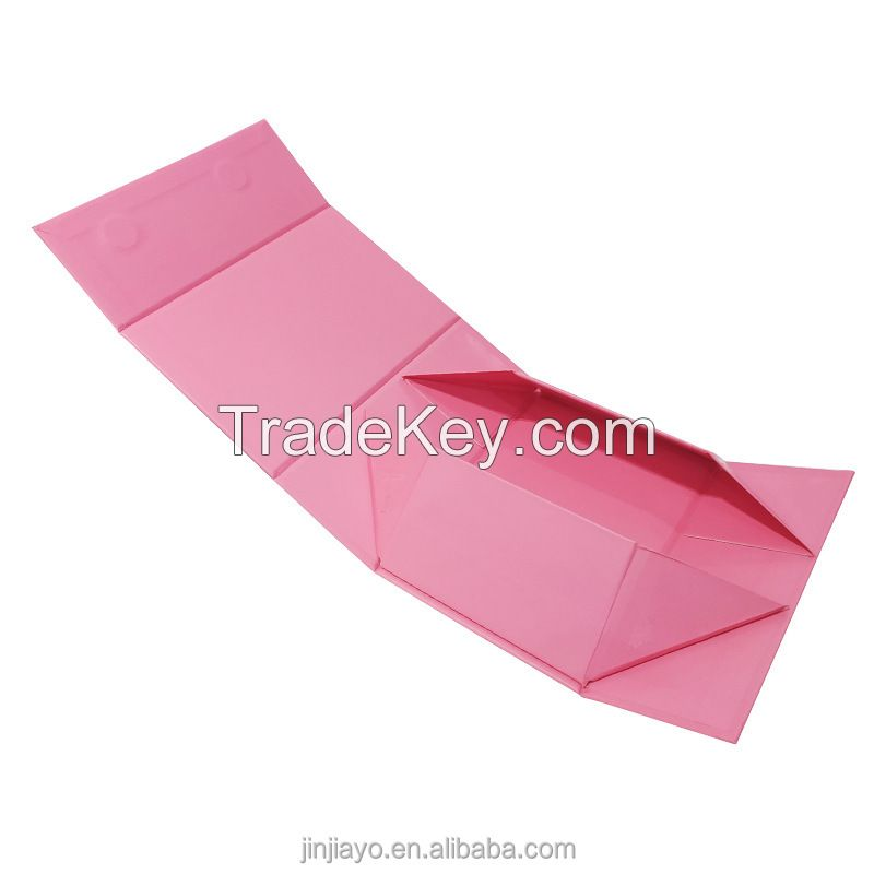 Folding Pink Rigid Box for Shipping Clothing Shoes Perfume Luxury Magnet Packaging Custom Logo Eco Friendly