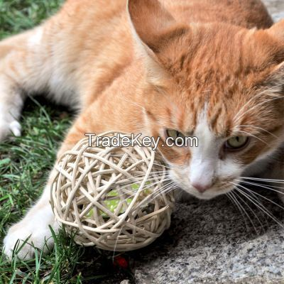 Rattan Ball Toy For Cat