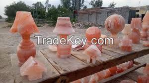 Pink salt decoration pieces