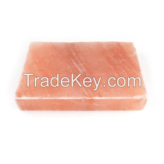 Pink salt slabs