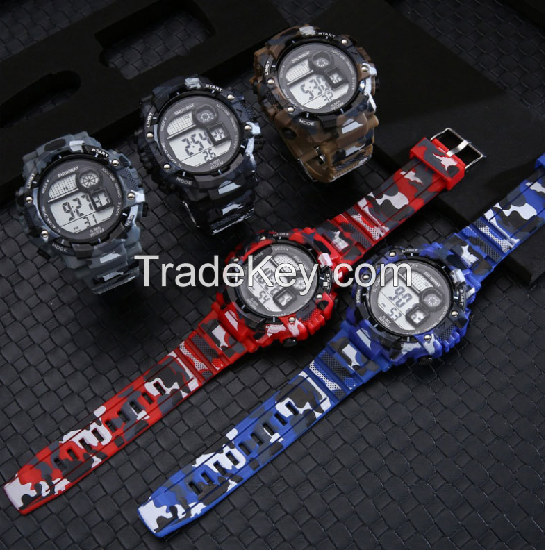 Youth sports electronic watch men's multi-function outdoor electronic watch student luminous waterproof watch