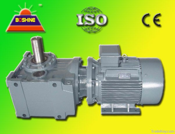 K Helical Bevel Gear Speed Reducer Motor