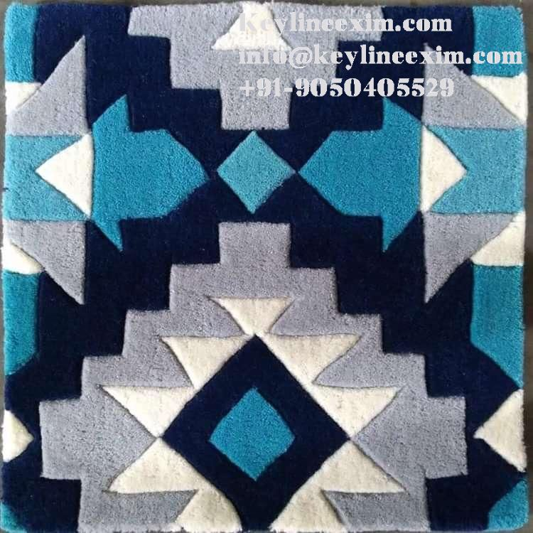Hand Tufted Rug - Hand Tufted Area Rug Wool- Cut Pile New Zealand Wool Hand Tufted Rug