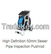 High Definition 50mm Sewer Pipe Inspection Pushrod Camera