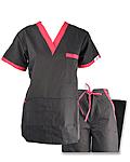 Nursing Uniforms Two Tone Sesigner Set