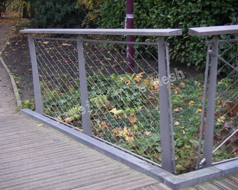aviary mesh, animal enclosure, zoo mesh, handwoven mesh