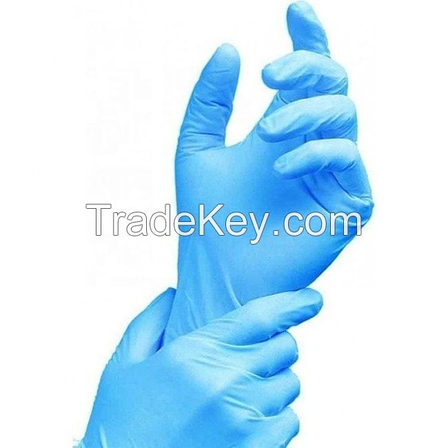 Blue/Black Nitrile Gloves 3.5 Mil - Powder Free 100/box (Small, Middle, Large)
