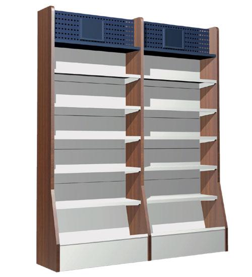 a series of book shelves