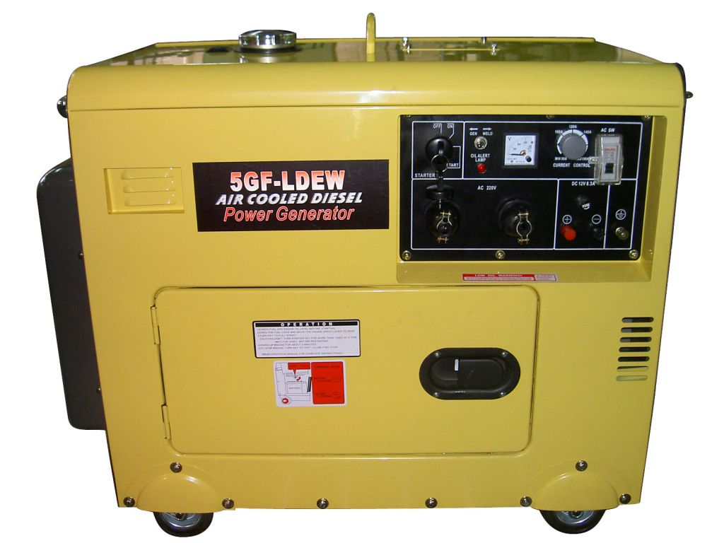 air cooled portable small electric silent diesel welding generaor set machine 160A-300AA